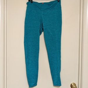 Mid-rise Activewear Leggings – Size L Teal Print